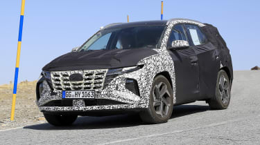 Hyundai Tucson in camouflage