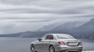 The latest E-Class echoes the swoopy design of both the smaller C-Class and larger S-Class
