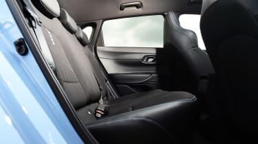 Hyundai i20 N hatchback rear seats