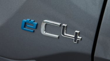 Citroen e-C4 hatchback badge