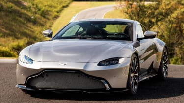 The new Vantage features aggressive styling and a 4.0-litre V8 petrol engine