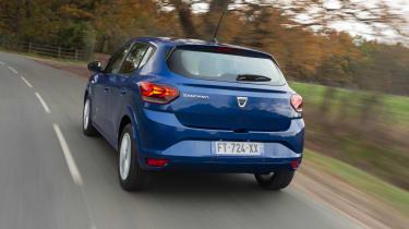 2021 Dacia Sandero - rear 3/4 view