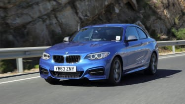The M240i also has stiffer suspension and larger brakes than the standard 2 Series