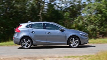 With similar mechanical components to the Ford Focus, it's no surprise the V40 acquits itself well on country lanes
