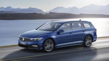 2019 Volkswagen Passat three quarter driving