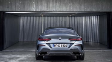 BMW 8 Series Gran Coupe - rear straight on static