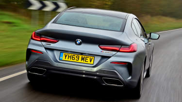 BMW 8 Series Gran Coupe saloon rear tracking