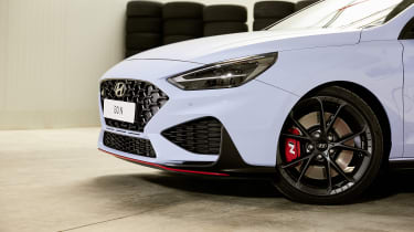 Facelifted Hyundai i30 N - front end detail