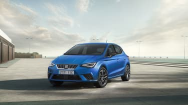 2021 SEAT Ibiza Xcellence Saphire Blue - front 3/4