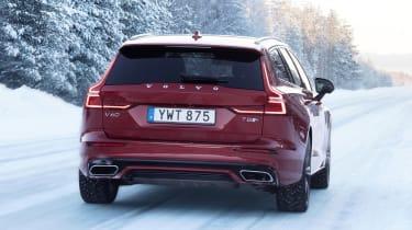 Volvo V60 T8 Twin Engine hybrid rear tracking