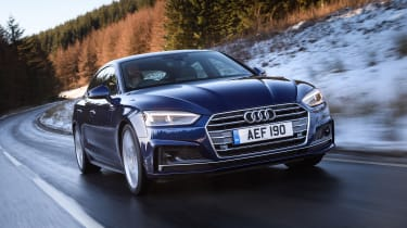 With four doors and a hatchback boot, the Audi A5 Sportback is more practical than the Audi A5 Coupe