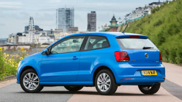 The three-door has slightly sportier looks, but the five-door Polo makes the rear seats more useful