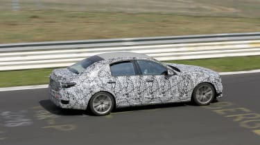 2021 Mercedes C-Class testing at the Nurburgring - rear quarter passing