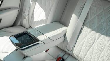 Mercedes EQS hatchback rear armrest
