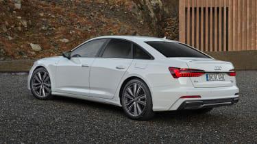 Audi A6 50 TFSI e plug-in hybrid rear/side view