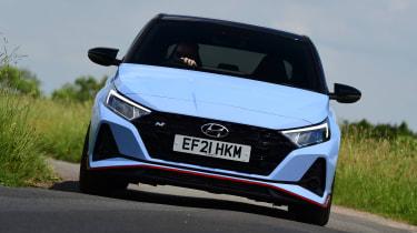 Hyundai i20 N hatchback front cornering