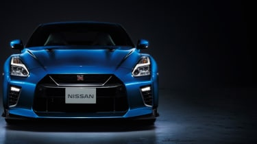2020 Nissan GT-R - static front in Bayside Blue