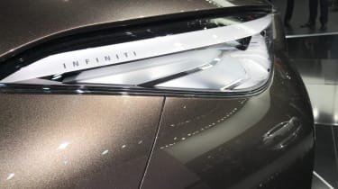 Details like the Infiniti branding applied to the headlights add a real premium feel
