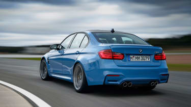 BMW M3 saloon 2014 rear tracking