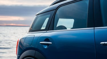 A staggered window-line helps to break up the MINI Countryman's bulk