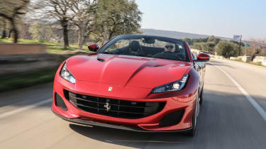 The Ferrari Portofino is a rival to roadsters like the Mercedes-AMG GT Roadster and Aston Martin DB11 Volante