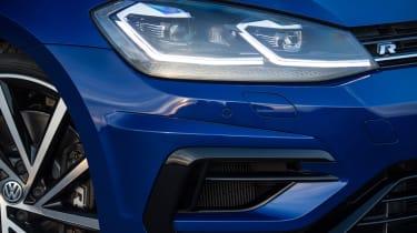 The latest Golf R has full LED headlamps