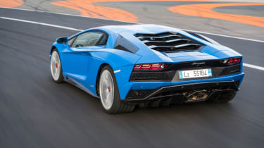 At over six feet wide, the Aventador is a bulky car