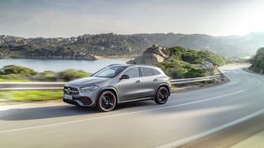 Mercedes GLA cornering