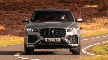 Jaguar F-Pace SUV front cornering