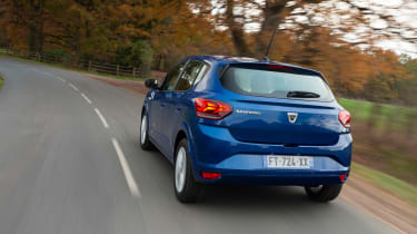 Dacia Sandero hatchback rear 3/4 tracking