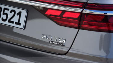 Audi A8 - rear badge close up