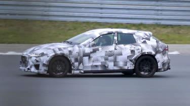 2022 Ferrari Purosangue SUV - prototype close passin shot