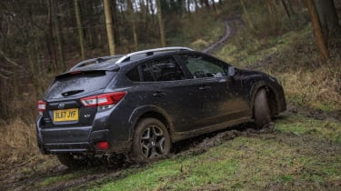 This provides impressive traction, able to get the XV places most owners would never think of going