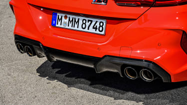 BMW M8 Competition coupe exhaust tips