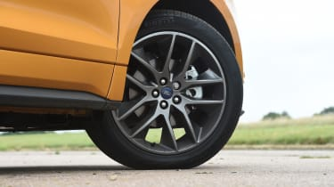 These 20-inch wheels are standard on Sport models; other versions come with 19in wheels as standard