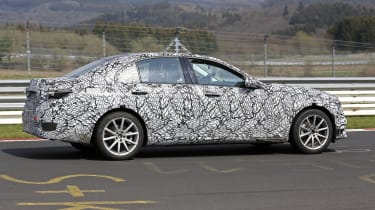 2021 Mercedes C-Class testing at the Nurburgring - side
