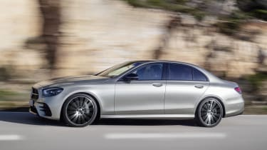 Mercedes E-Class driving - side view