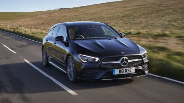 Mercedes CLA Shooting Brake driving - front view