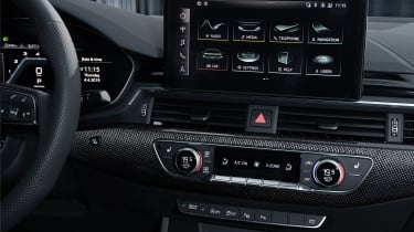Facelifted Audi A4 - infotainment