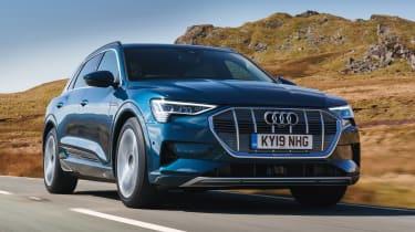 Audi e-tron SUV front 3/4 tracking