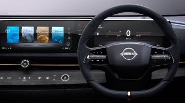 Nissan Ariya concept interior close up