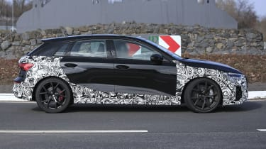 2021 Audi RS3 prototype side view