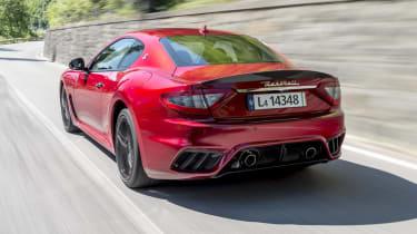 Maserati GranTurismo coupe rear 3/4 tracking