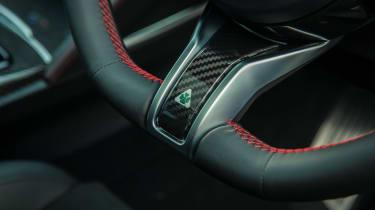 Alfa Romeo Stelvio Quadrifoglio SUV - steering wheel