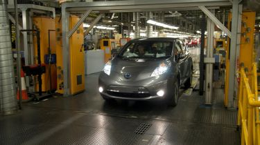Nissan Leaf production facility in Sunderland