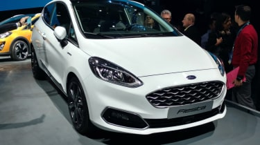 The Fiesta Vignale gets its own unique honeycomb front grille, and extra chrome detailing