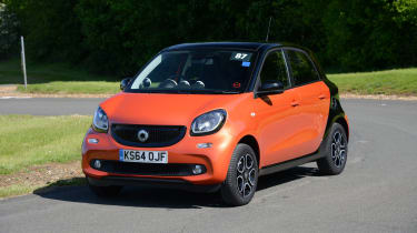 The Smart ForFour was developed hand-in-hand with the Renault Twingo and has its engine in the back.