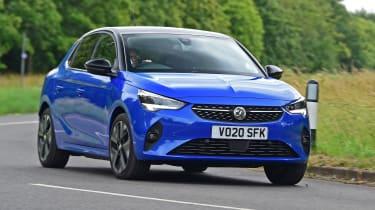 Vauxhall Corsa-e hatchback front cornering