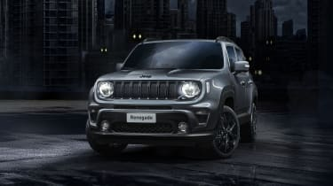 Jeep Renegade Night Eagle - front 3/4 view