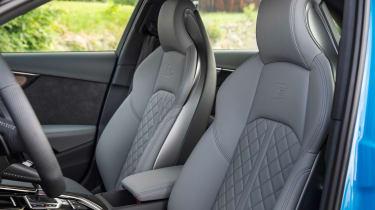 Audi S4 saloon front seats